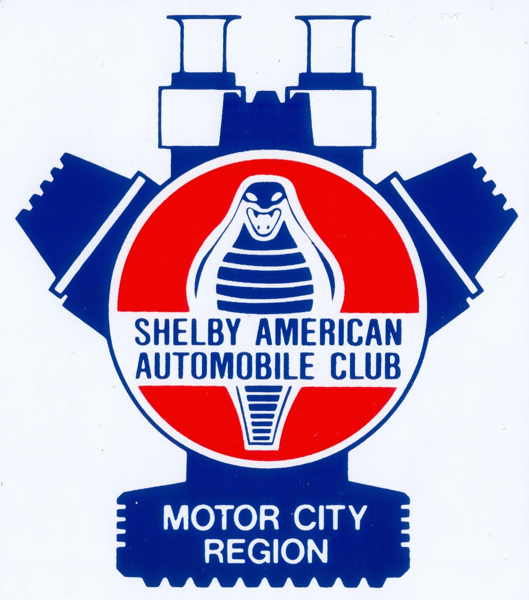 "SAAC Shelby American Automobile Club Sticker Decal 2/"" Carroll Shelby Cobra"