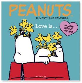 Peanuts 2013 Wall Calendar 16 Months $14.99