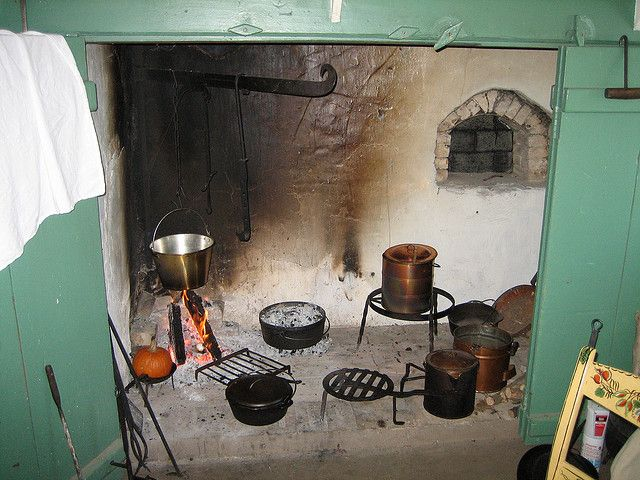 Walk-in Cooking Fireplace in Restored 1810 Farmhouse ...