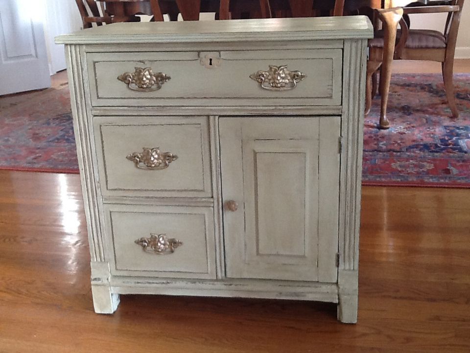 stunning antique white wash furniture | Antique wash stand updated with ASCP, color - Versailles ...