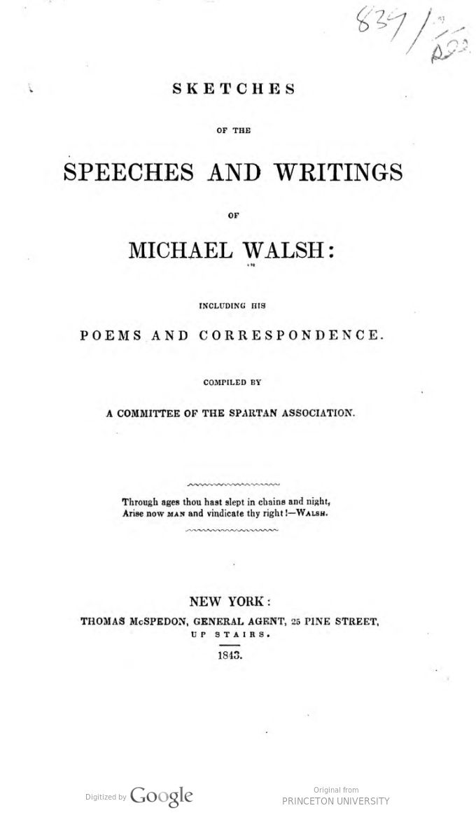 Sketches Of His Speeches And Writing Including His Poems And