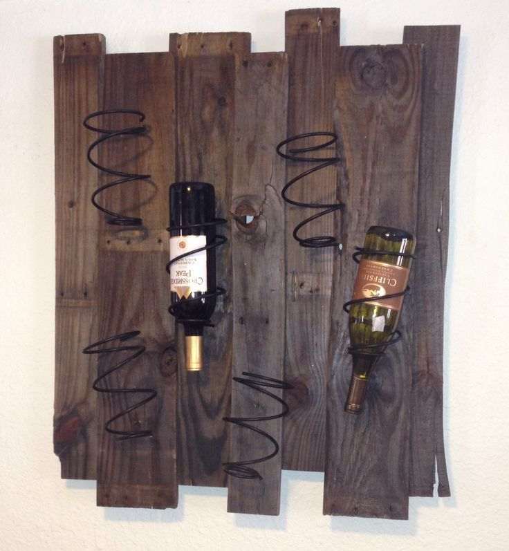 Scrap Wood and old bed springs- cool. Would be neat with a saying along with it