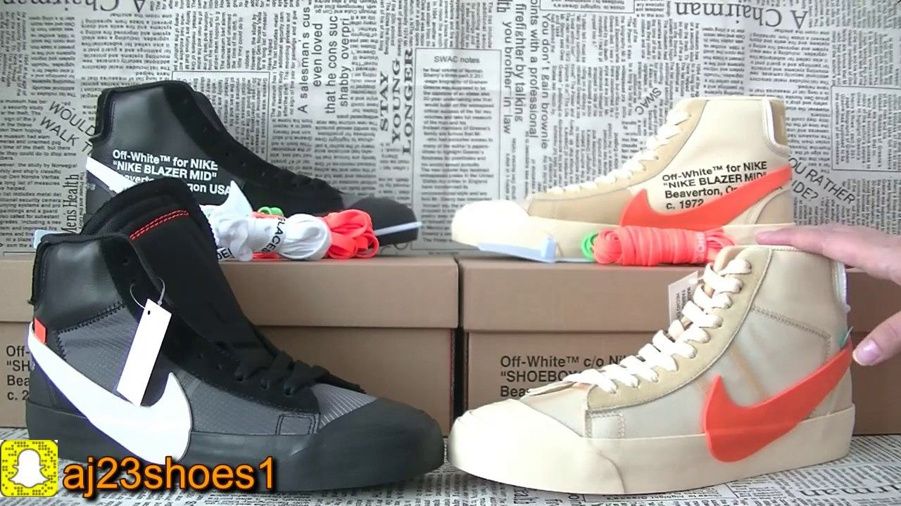 5e16b978dc0f9e Comparison of the OFFWHITE blazer two colors from aj23shoes.net ...