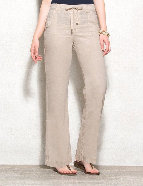 50% off world-wide free shipping world-wide renown roz & ALI™ Petite Classic Fit Linen Pants | Fashion | Pants ...