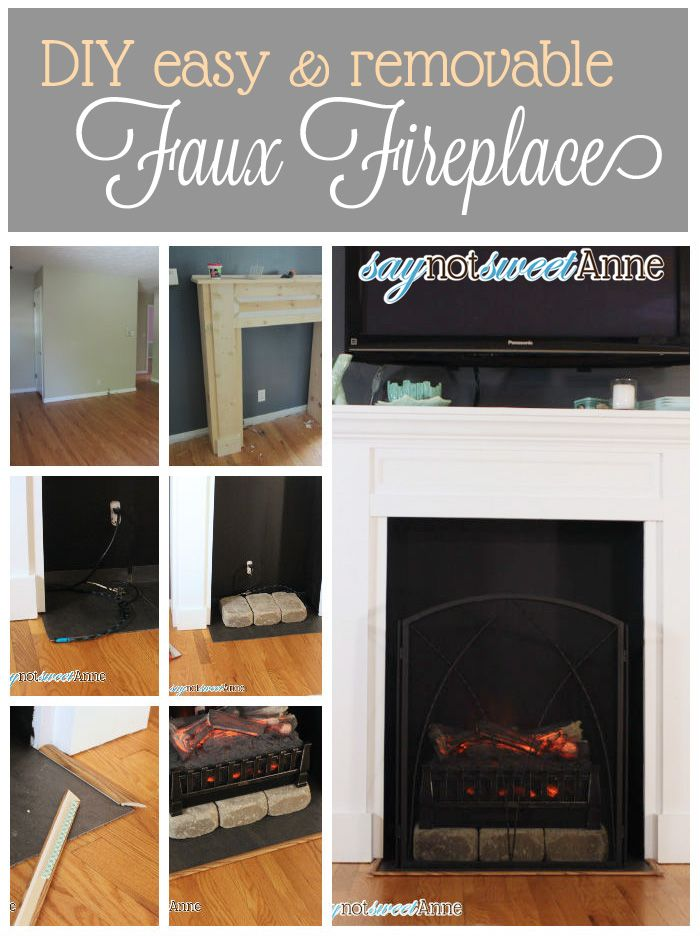 Easy Diy Fireplace Diy Fireplace Faux Fireplace Decor
