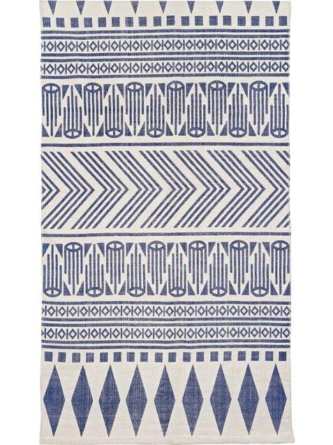 Skandinavische muster blau  Teppich Aztec Blau | Teppiche, Liv und Blau