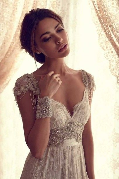 Champagne Deaded Lace Wedding Dresses Dress Clothes Beaded Vintage The Great Gatsby Pinterest