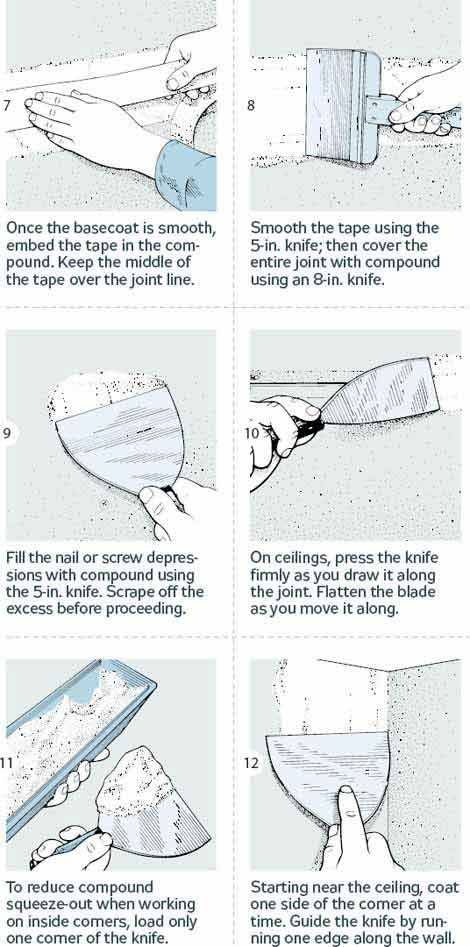 How to finish drywall 18 steps to smooth joints drywall for Finishing a basement step by step guide