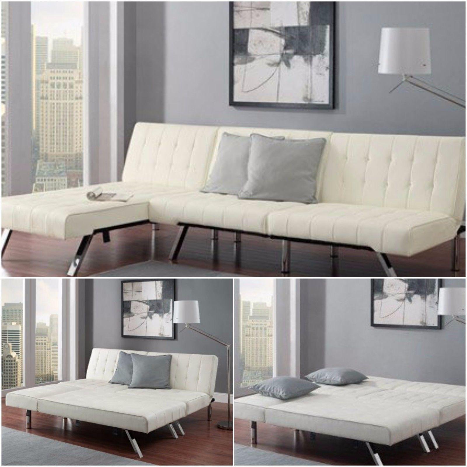 Modern Comfortable L Shaped Convertible Sofa Bed Sleeper