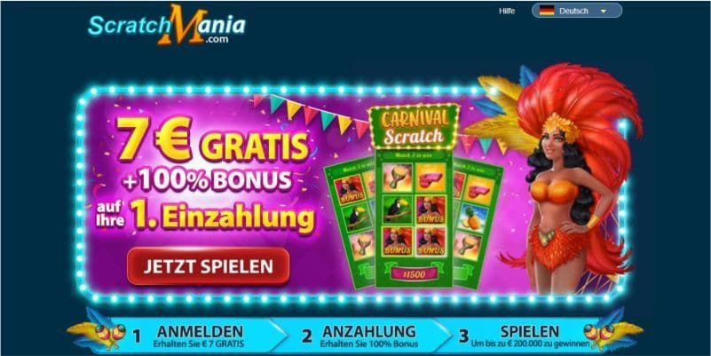 7 Ohne Einzahlung Mit Scratchmania Casino Bonus Plus 200 Online Casino Bonus Casino Bonus Casino