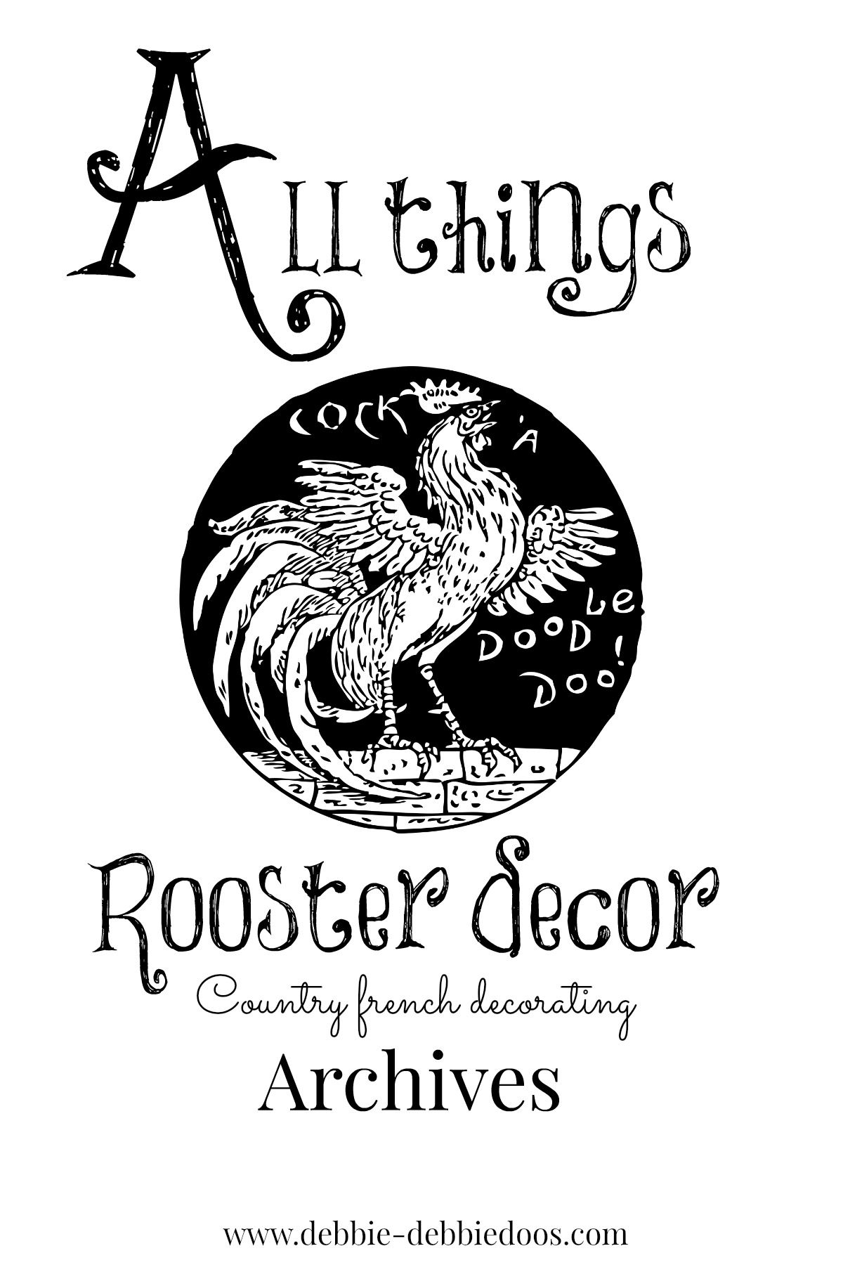 All things Country french decorating and craft ideas with roosters ...