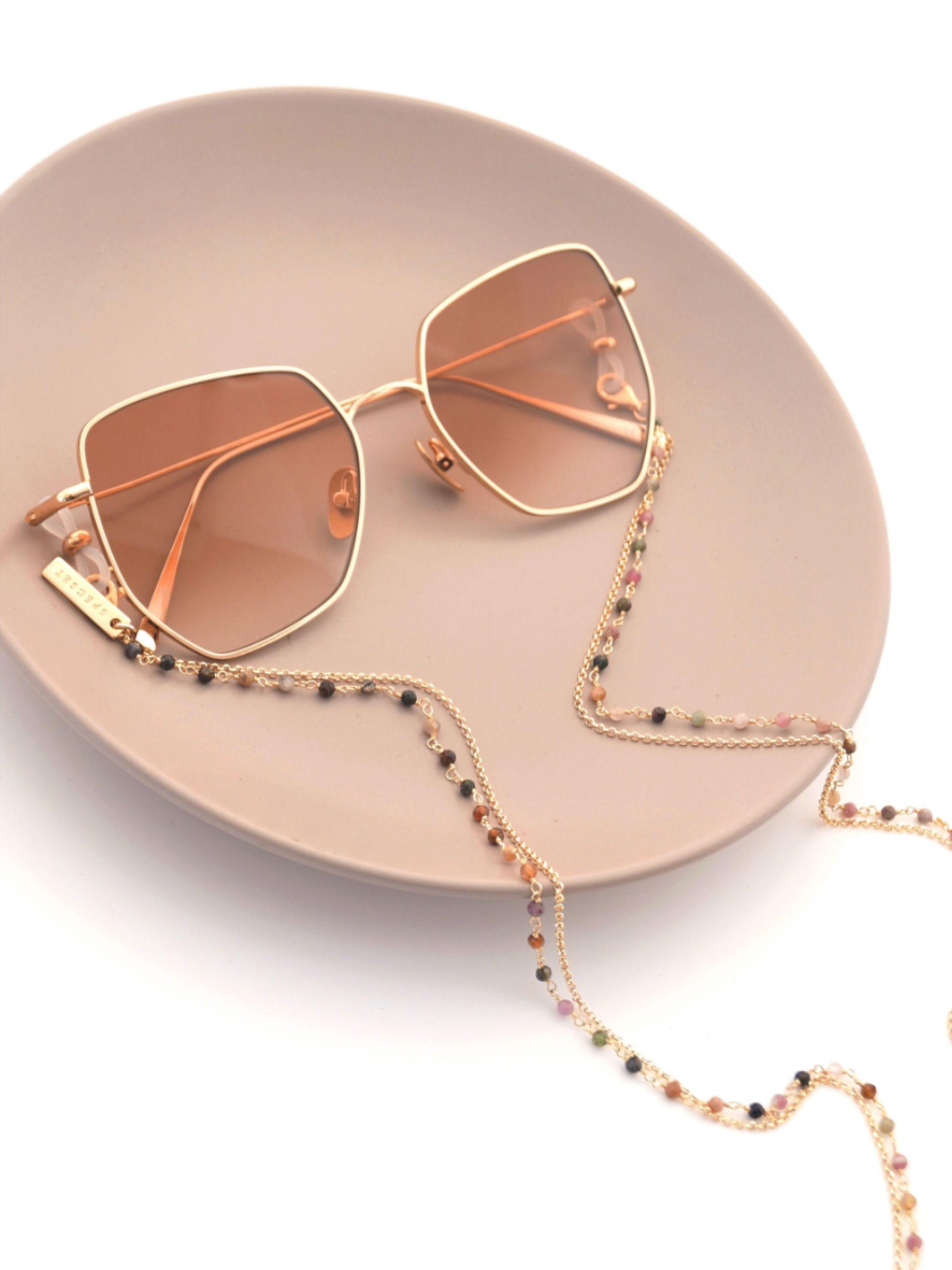 Gold Tourmaline Eyeglass Chain Double Gold Glasses Chain | Etsy | Eyeglass  chain, Eyeglass jewelry, Sunglass chain