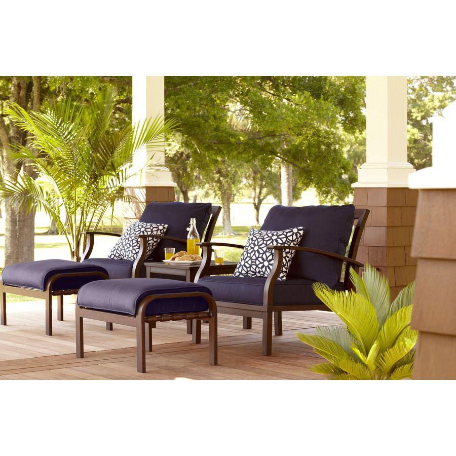 770 Shop 5 Piece Gatewood Patio Conversation Set At Lowes Com Outdoor Patio Decor Diy Patio Furniture Patio Furniture