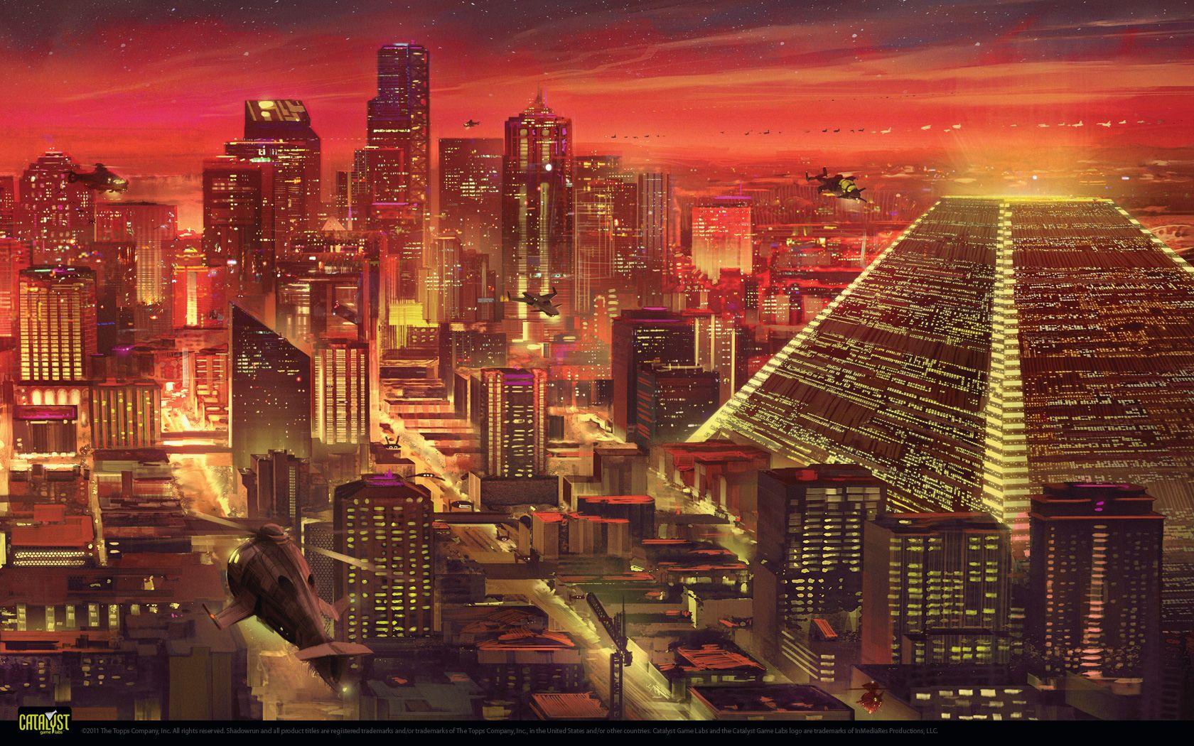 Wallpapers Shadowrun 5 Shadowrun Futuristic City Cyberpunk City
