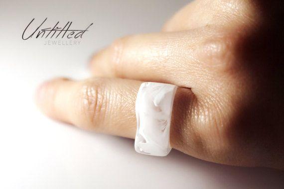 Untitled Resin Ring от Untitleddesignstudio на Etsy