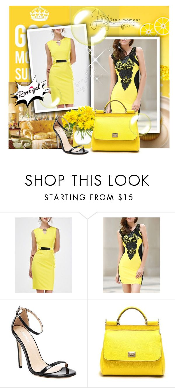 """Rosegal 52"" by marinadusanic ❤ liked on Polyvore featuring MELLOW YELLOW, Dolce&Gabbana and vintage"