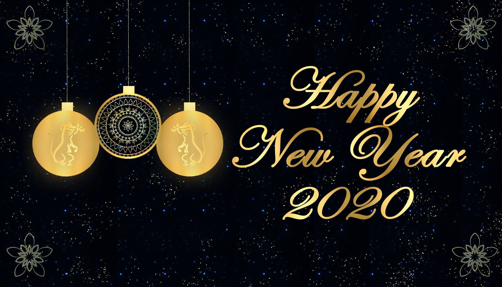 Best Golden Black Image for the new year 2020 New year