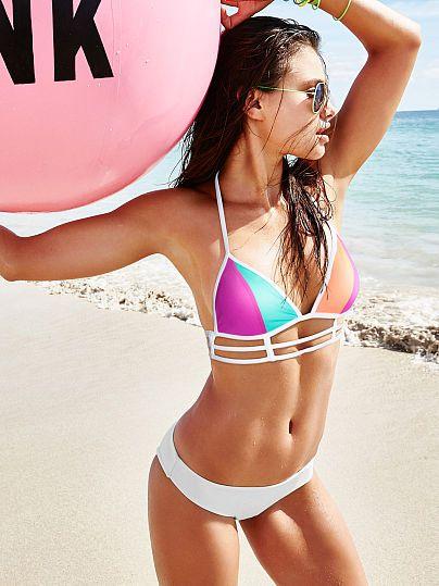 ec300f3ecb Strappy Triangle Top - PINK - Victoria s Secret