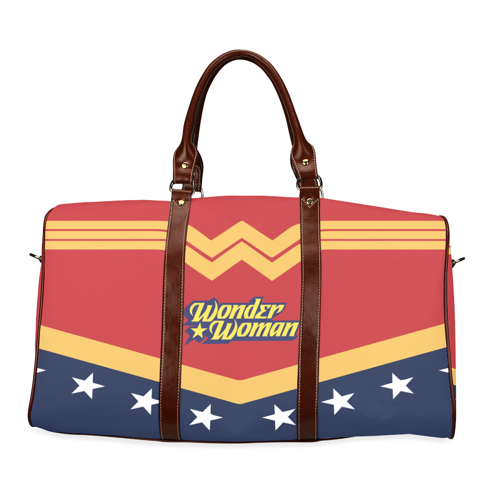 Zipper Pouch Made With Wonder Woman Inspired Fabric