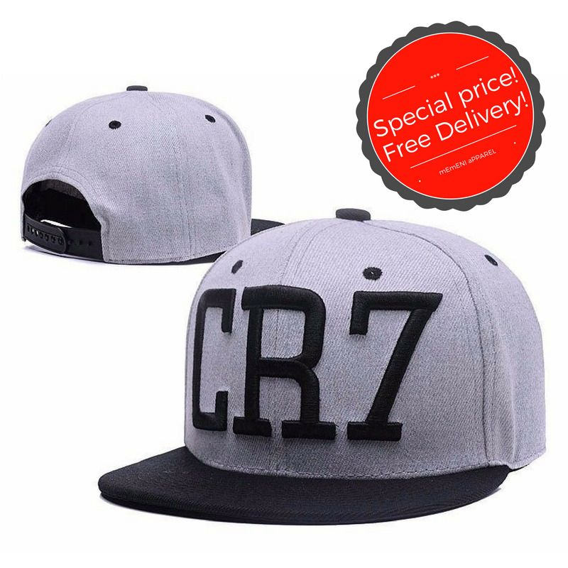 c7a7c089b60 High Quality Gray Fashion Cr7 Soccer Star Ronaldo Baseball Cap Hat Free  Shipping