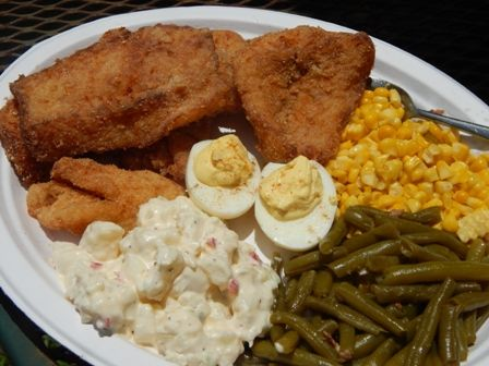Southern fish fry good eats delightful desserts tipsy for Fried fish dinner