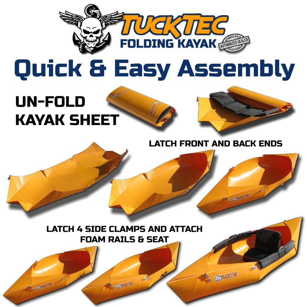 Folding Kayak   10 foot TAN Foldable Kayak   Camp   Kayaking