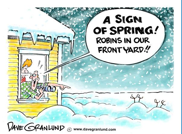 No More Snow Funny Cartoons Jokes Spring Sign Spring Funny