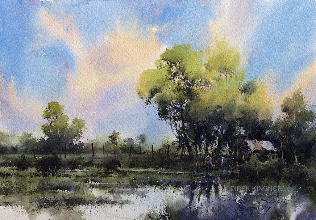 Beautiful Landscape Arte De Acuarela Arte Paisajes Paisajes Acuarela