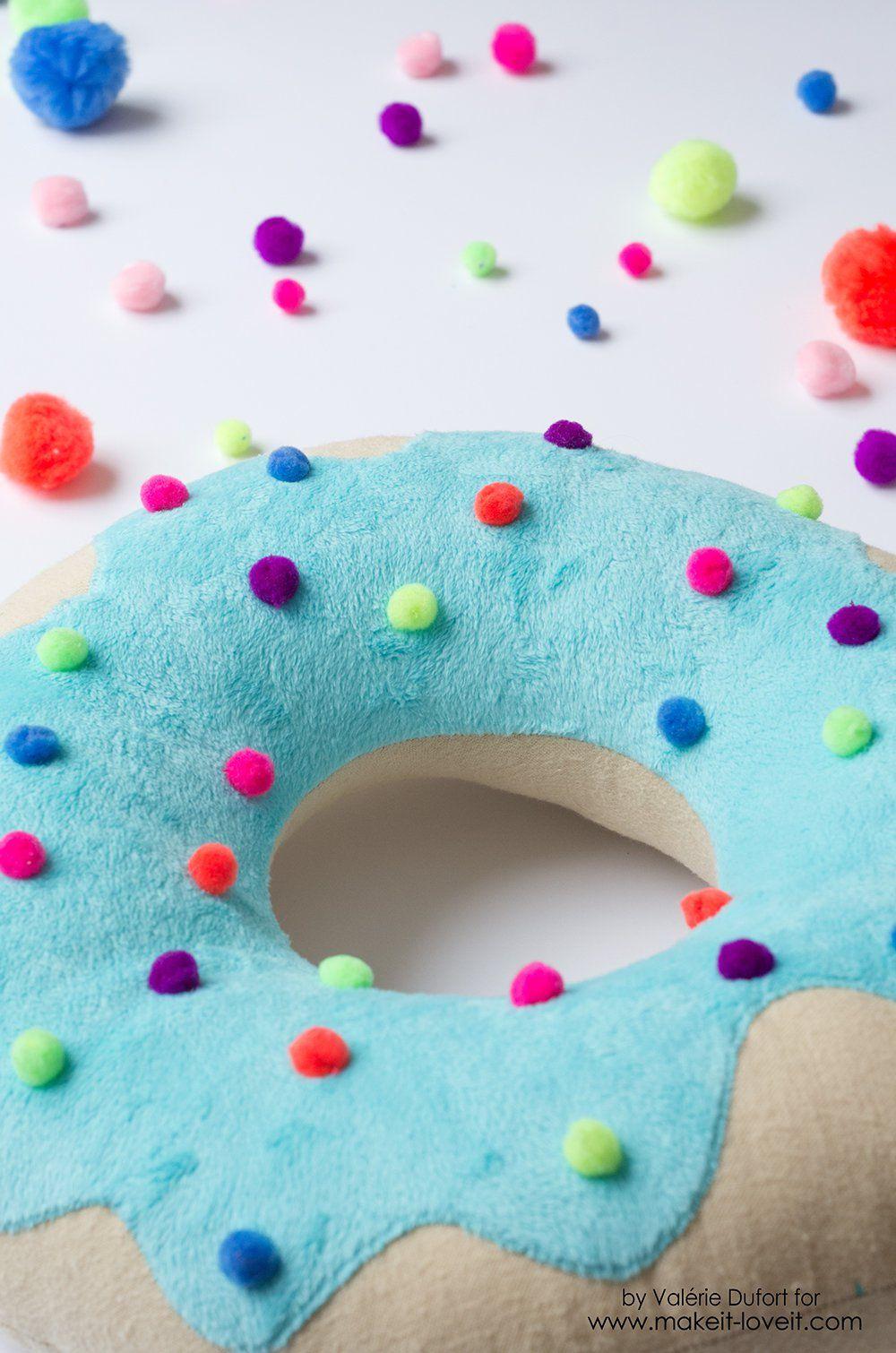 Delicious Donut Pillow Tutorial Donut Pillow Donut Decorations Diy Pillows