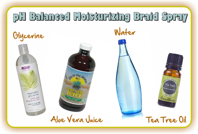 Two Surprisingly Easy But Effective Homemade Braid Sprays Natural Hair Spray Natural Hair Styles Hair Care