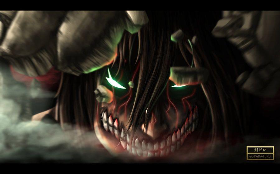 Shingeki No Kyojin Eren S Transformation By Espadazero Deviantart Com On Deviantart Attack On Titan Attack On Titan Eren Attack On Titan Anime