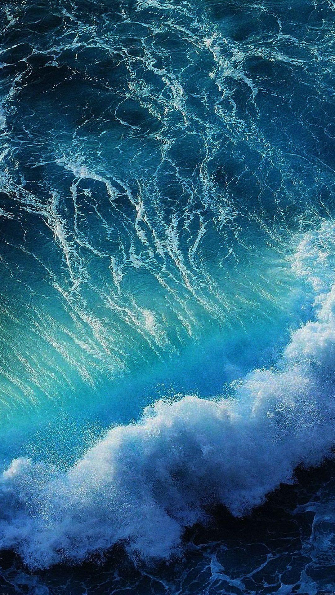 Phone Wallpaper Landscape Ocean Sea Sea Wallpaper Background Wallpaper Background Iphone Phone Mobile Ocean Waves Ocean Wallpaper Ios 11 Wallpaper