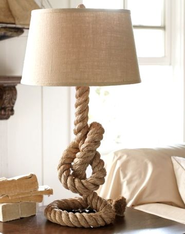 nautical rope lamp wicker table rope table lamp google search table lamps pinterest nautical