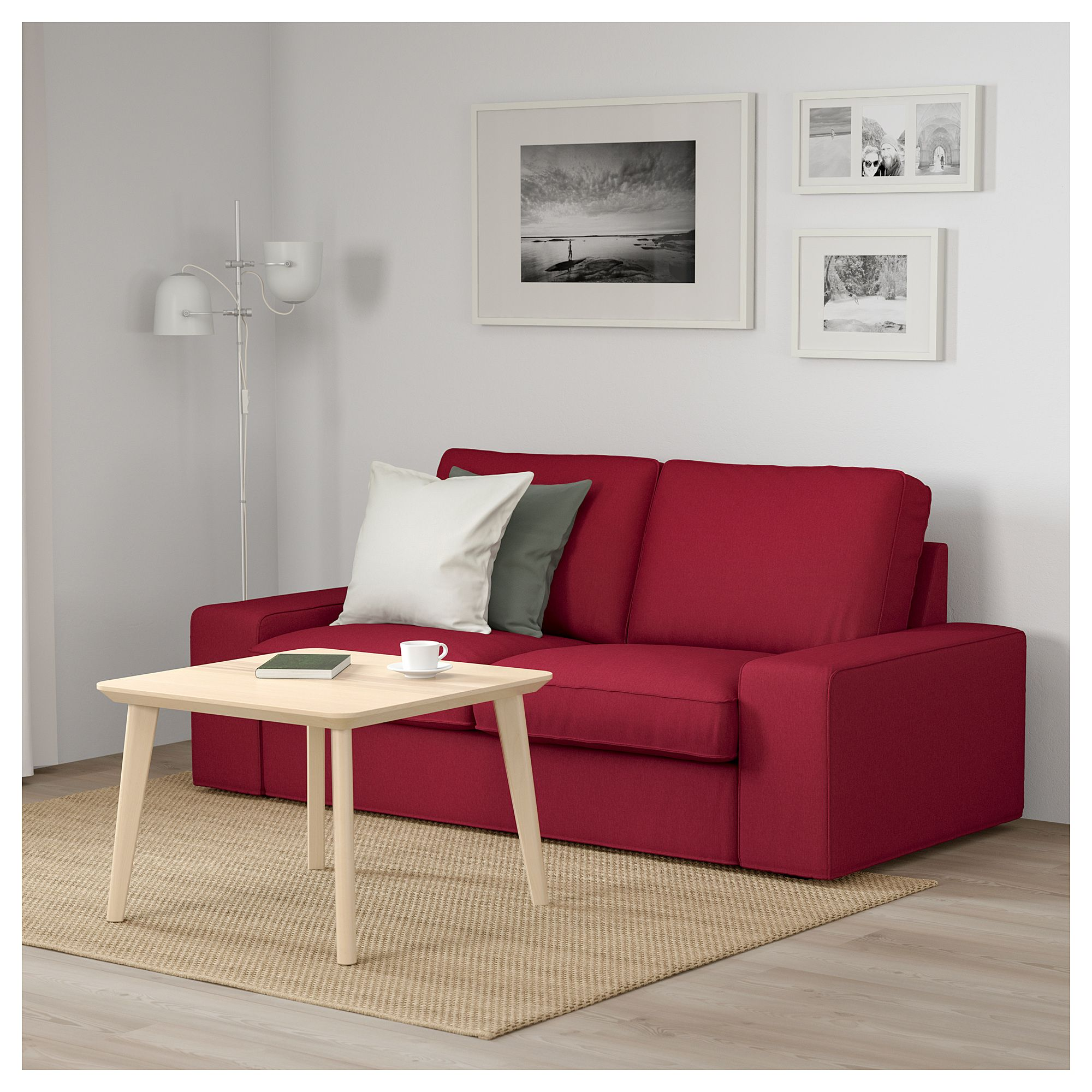 ikea kivik loveseat orrsta red christine rukere sofa sofa rh pinterest com