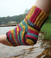af4ee8335926fa Ravelry  Sassy Pedicure Socks pattern by Lisa Gentry