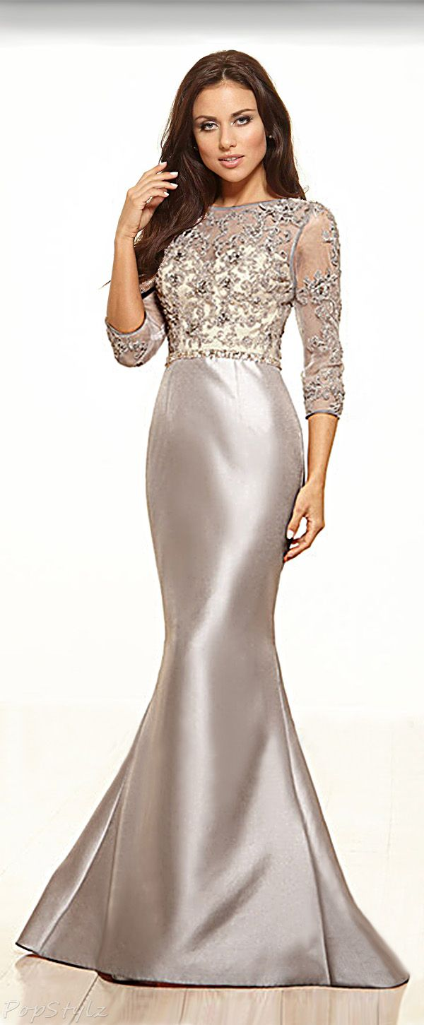 Terani couture m elegant lacy top dress gowns and dresses