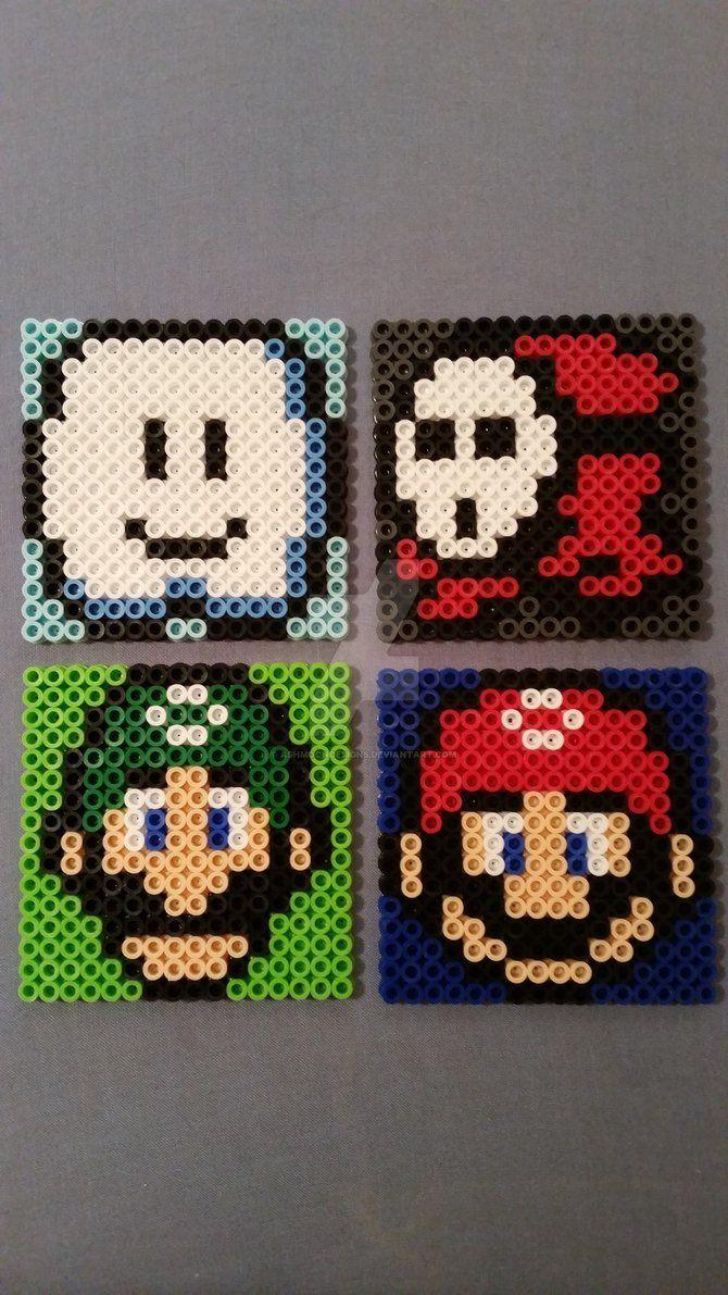 Mario Perler Bead Coasters III by AshMoonDesigns | DIY | Pinterest ...