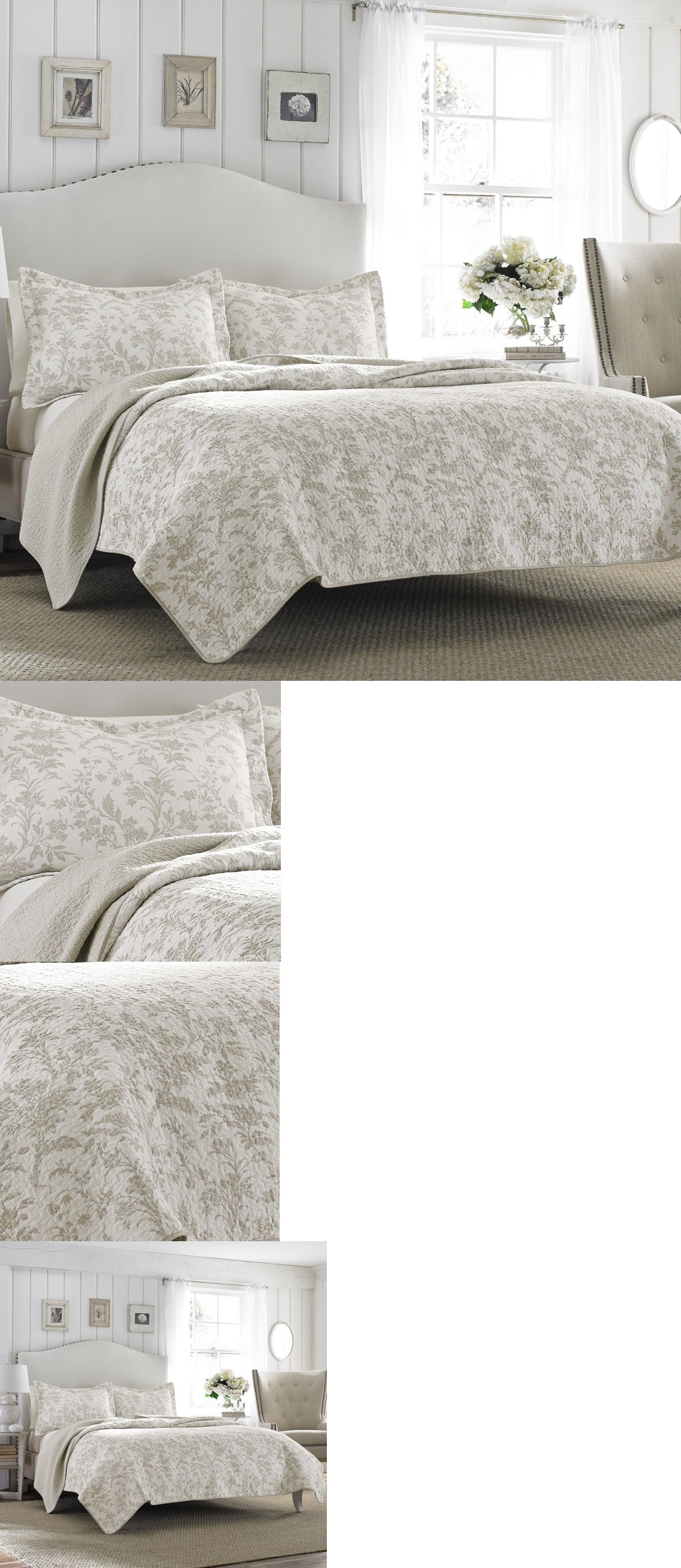 quilts bedspreads and coverlets  laura ashley floral  - quilts bedspreads and coverlets  laura ashley floral bisquitoffwhite reversible coverlet cotton