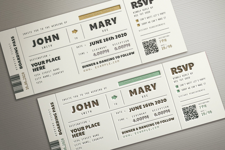 Boarding Pass Wedding Invitation Boarding Pass Wedding Invitation Ticket Wedding Invitations Wedding Invitations
