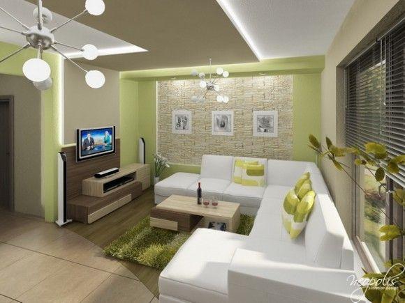 Luminosas y acogedoras salas de estar modernas para la for Salas modernas para departamentos pequenos