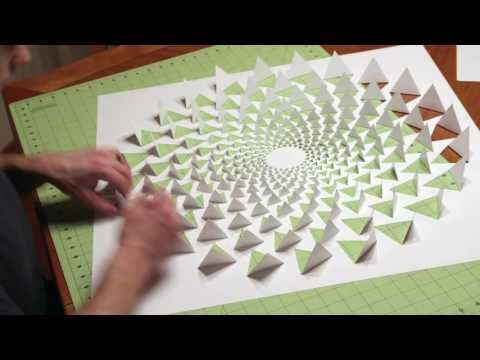 1) 3D optical illusion wall art made using one sheet of paper ...