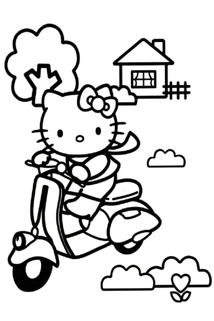 Hello Kitty Coloring Pages Scooter Hello Kitty Colouring Pages Hello Kitty Coloring Kitty Coloring