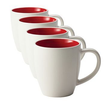 Rachael Ray Rise 4 Pc Mug Set Stoneware Mugs Rachael Ray
