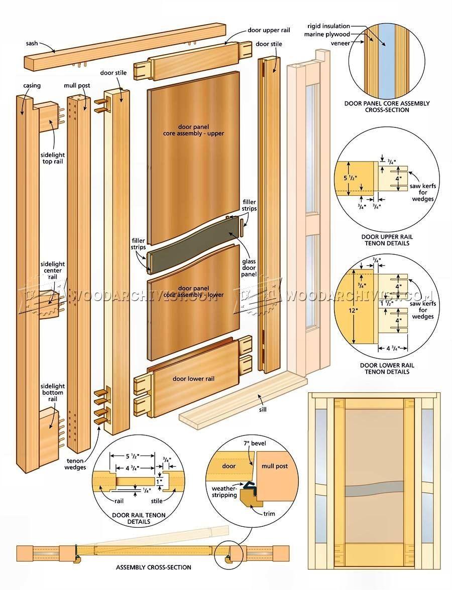 Entry Door Plans Door Construction Custom Entry Doors Door Plan Diy Exterior Door