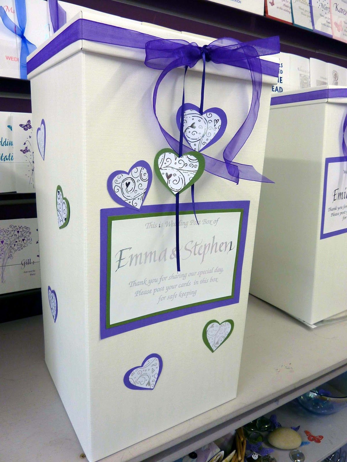 Wedding post box decorations  Inspired by Script  Wedding Post Box inspiredbyscript