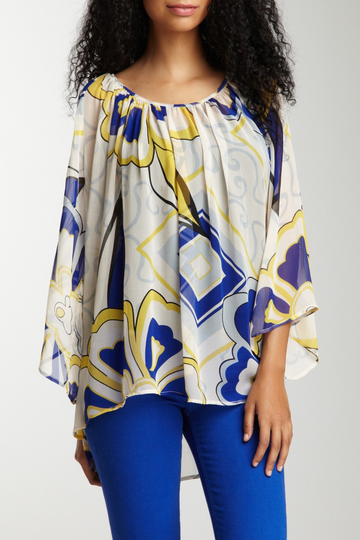 Bell Sleeve Tunic Silk Top by Analili on @HauteLook