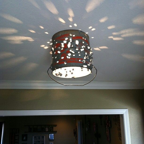 Mobile Home Light Fixtures: Minnow Bucket Re-purposed Into Light Fixture