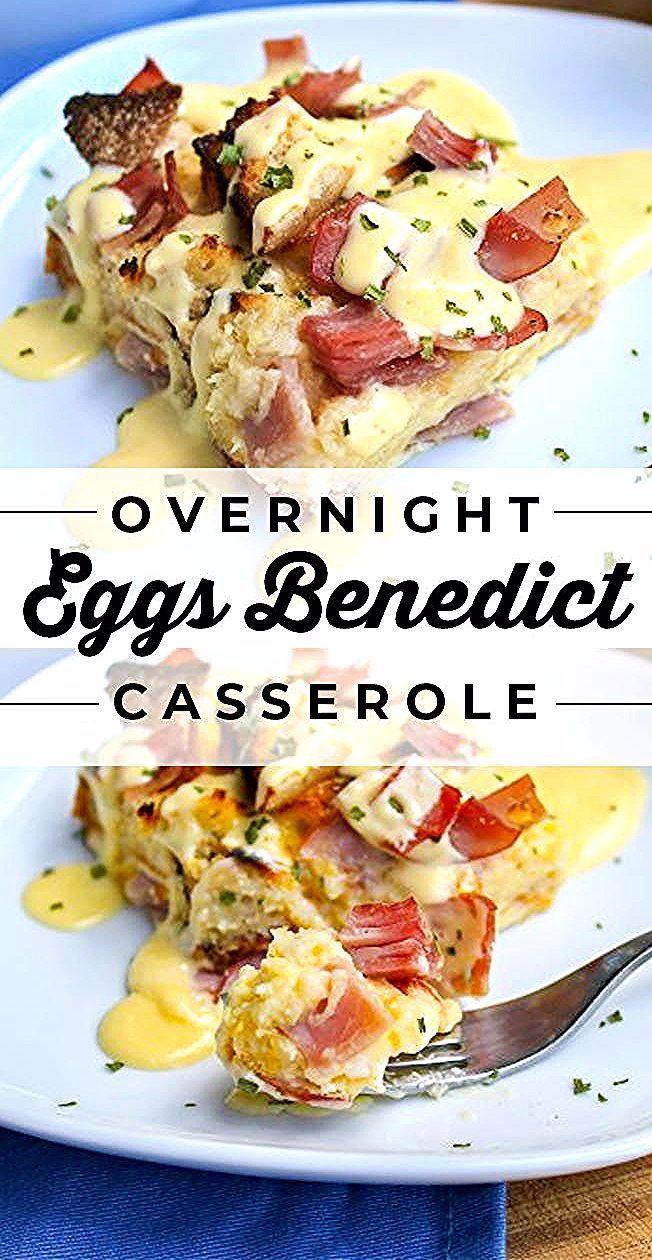 Overnight Eggs Benedict Casserole from The Food Charlatan