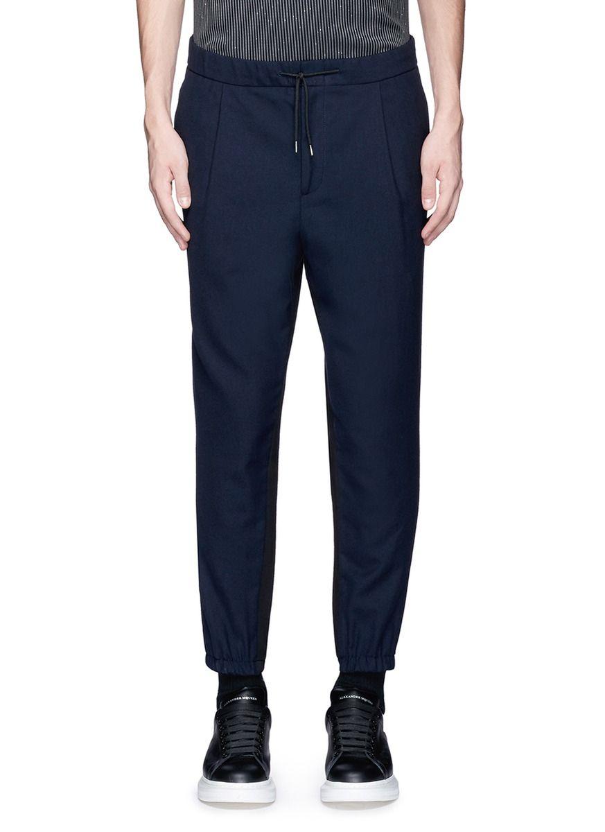 MCQ ALEXANDER MCQUEEN Contrast back wool jogging pants.  #mcqalexandermcqueen #cloth #pants
