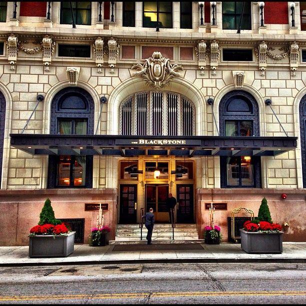Renaissance Blackstone Chicago Hotels Hotel Facade Blackstone Hotel